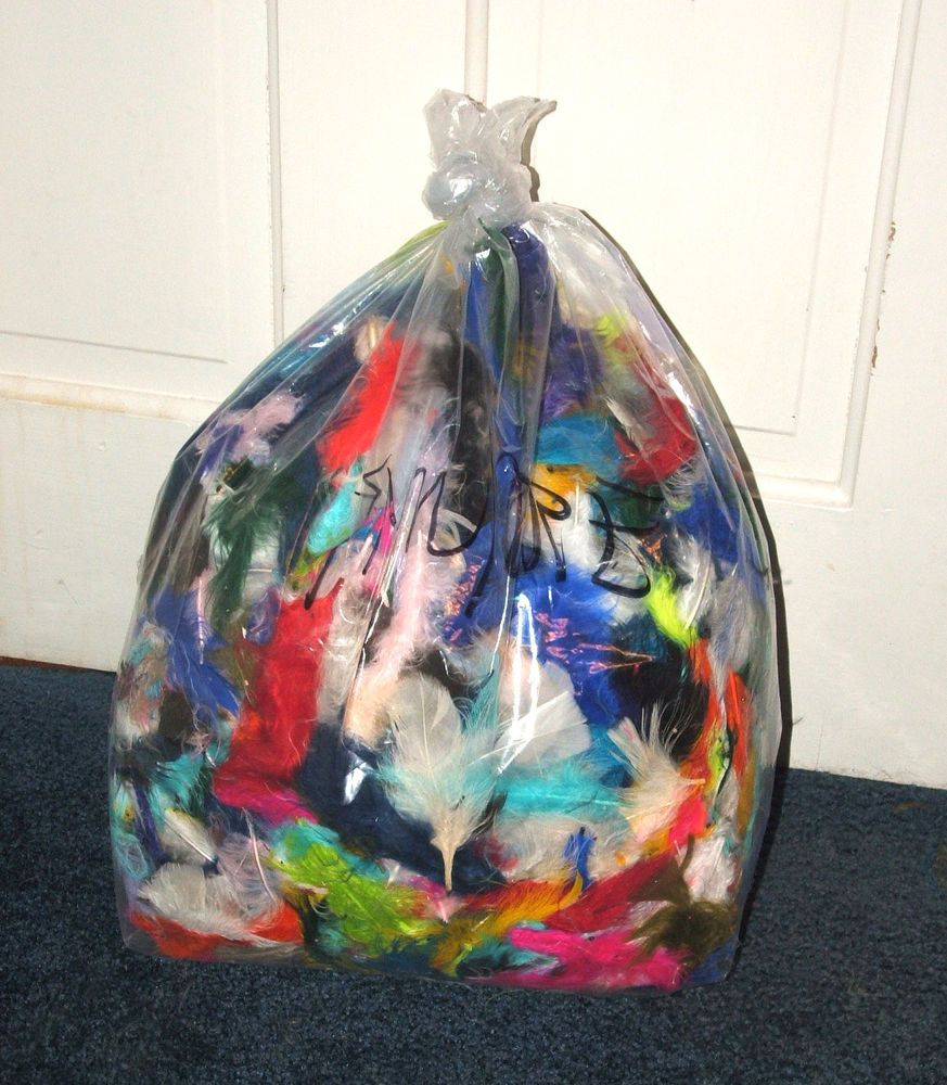 A Huge 1 Pound Bag Of Mixed Color Marabou Feathers For Just 25 00 These Are Imperfect Meaning They Have Bent Shafts Missing Tips Or Damaged