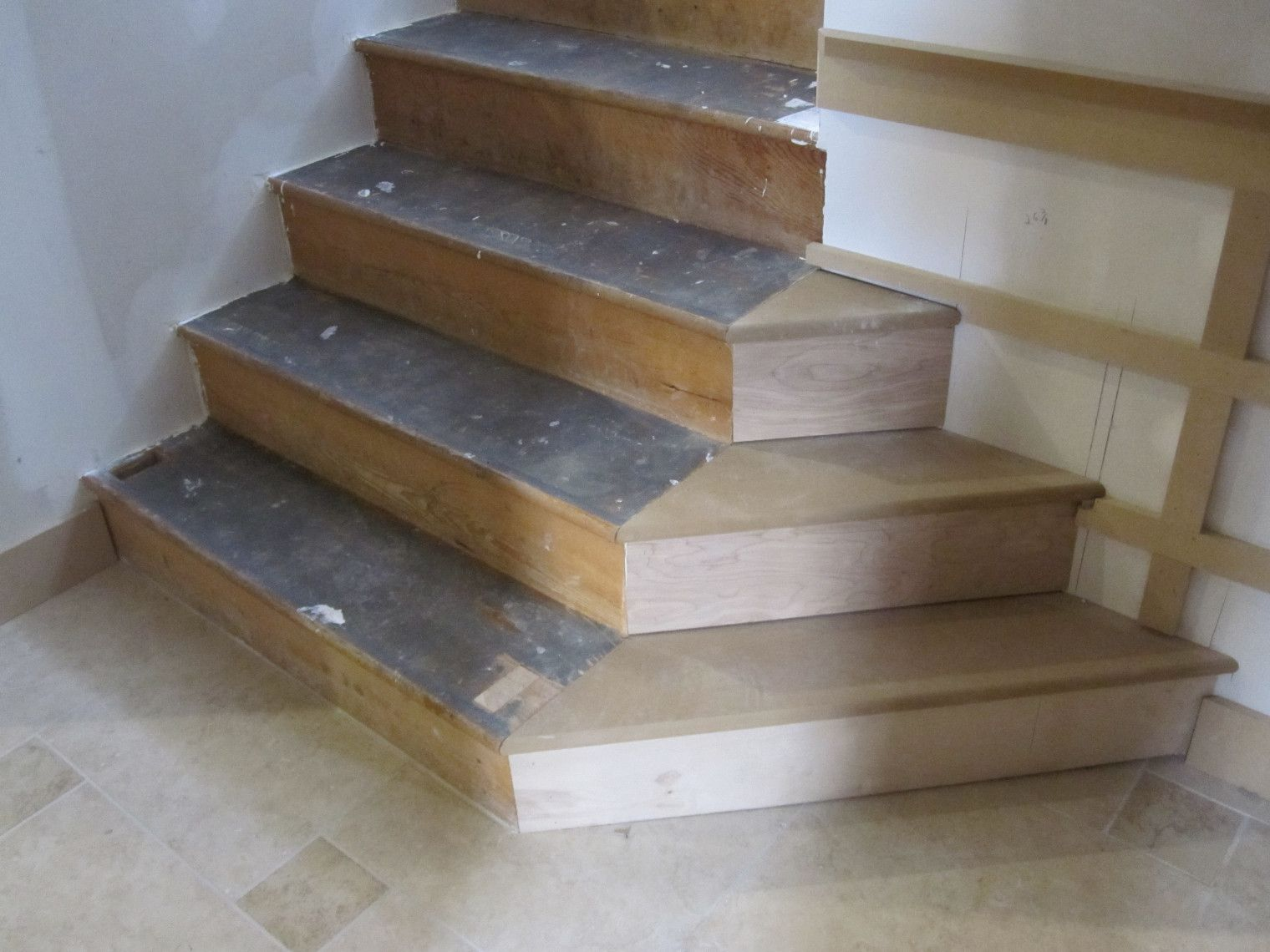 Refinishing Basement Stairs Stair Redo With Painted Treads And Beadboard Risers Basement