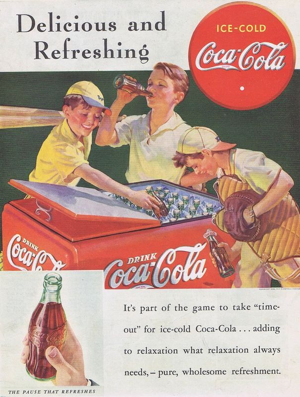 Baseball  Coca-Cola advertisement | Coca-Cola and Coca-Cola