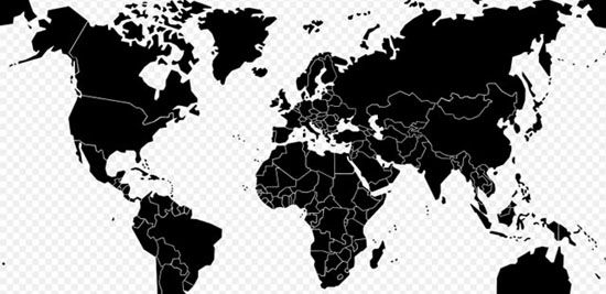 Free vector stylised world map outline clip art vector world map 25 free vector world maps ai eps and svg formats free vector world maps collection gumiabroncs Gallery