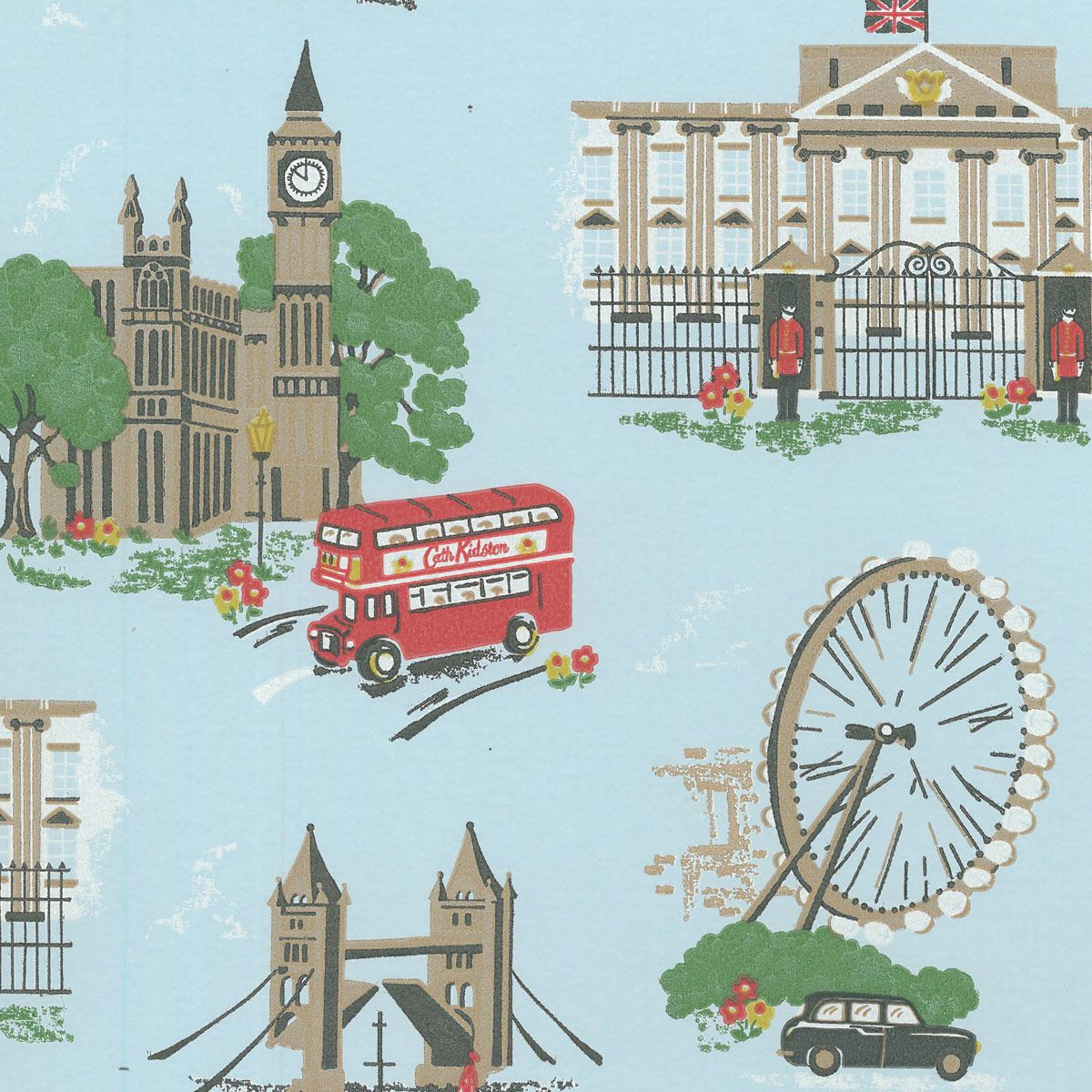 London Wallpaper For Bedrooms London Scene Wallpaper From Cath Kidston My New Favorite British