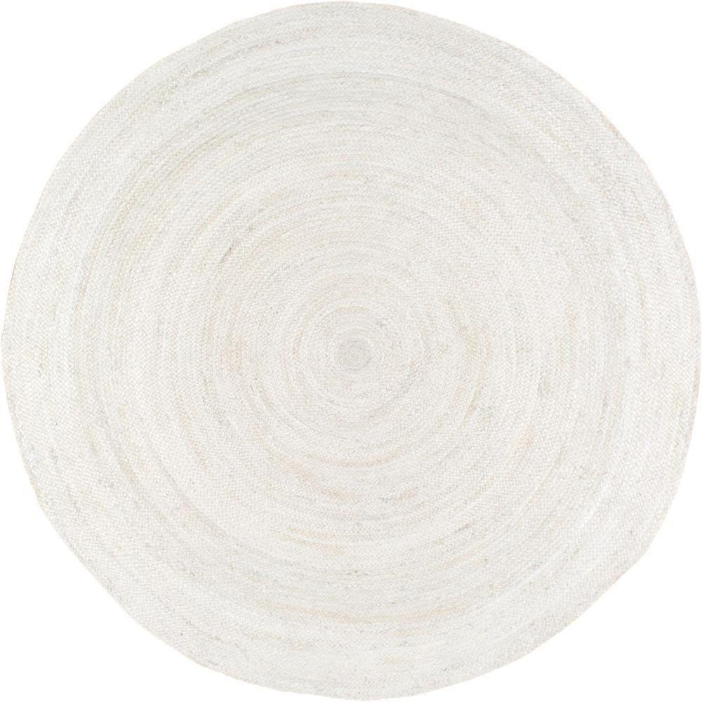 Nuloom Rigo Jute White 8 Ft X Round Area Rug