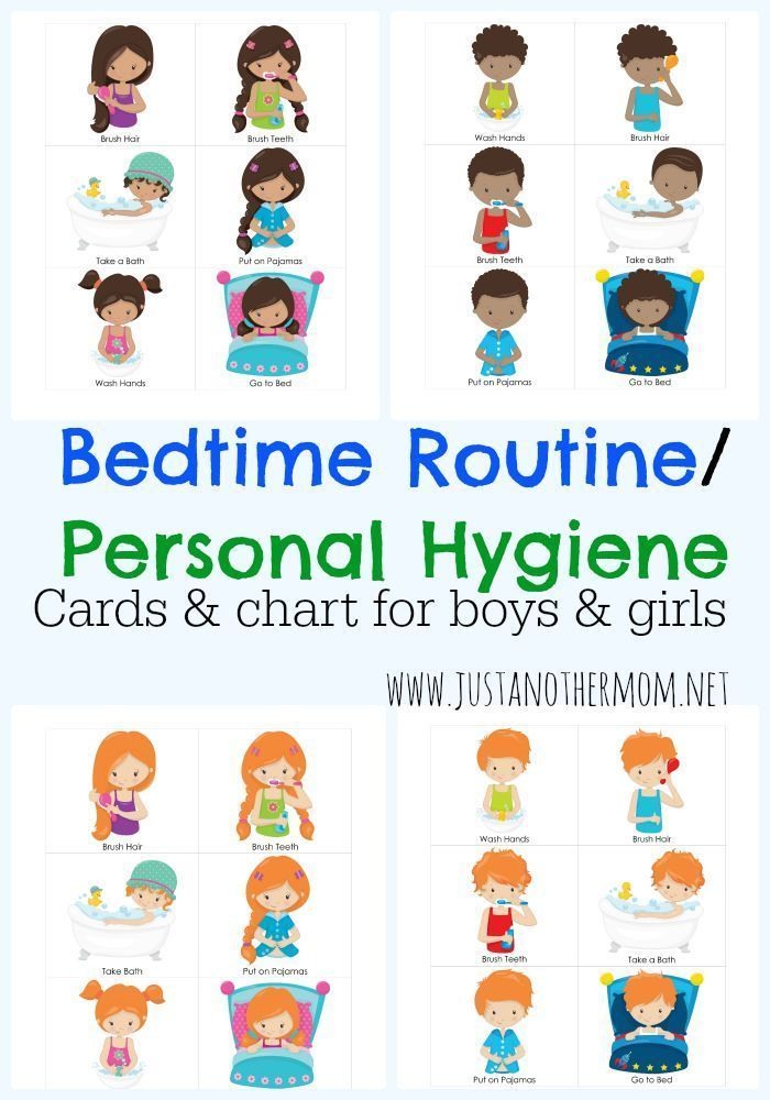 Tactueux image throughout bedtime routine chart printable
