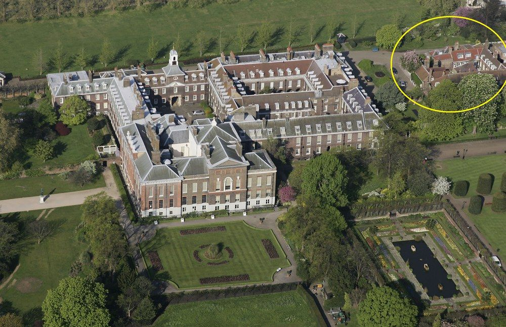 Kate middleton o se cache t elle palace prince Nottingham cottage kensington palace pictures