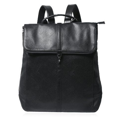 Fashionable Solid Colour and Hasp Design Men's Backpack Backpacks | RoseGal.com Mobile