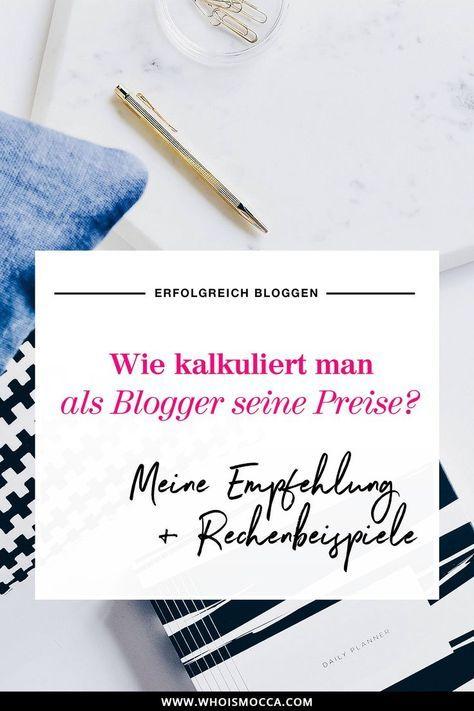 Mit Bloggen Geld verdienen und Preise kalkulieren ...