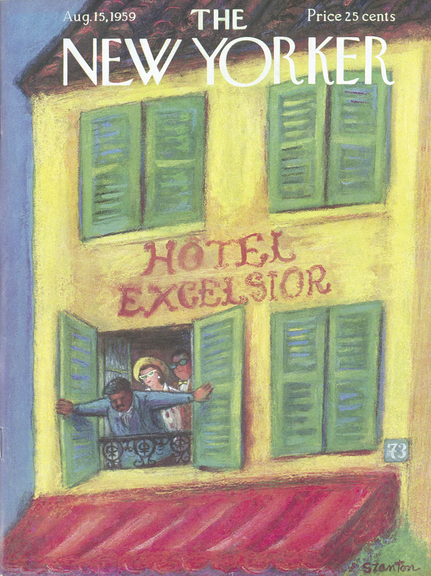 The New Yorker - Saturday, August 15, 1959 - Issue # 1800 - Vol. 35 - N° 26 - Cover by : Beatrice Szanton