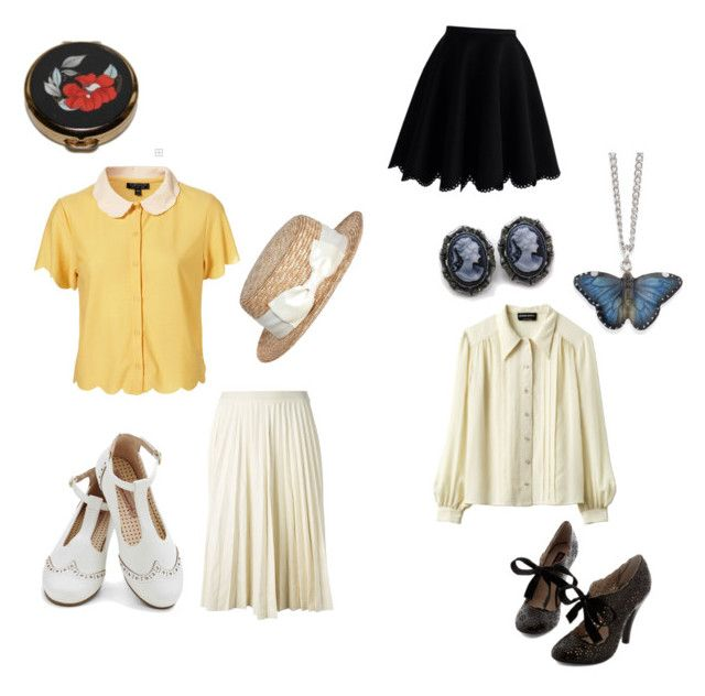 """""""Wendy Darling"""" by alexkaity ❤ liked on Polyvore featuring Sonia Rykiel, Natures Jewelry, Theory, Chicwish and red flower"""