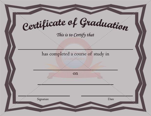 Graduation certificate template graduation certificate templates graduation certificate template yadclub Choice Image
