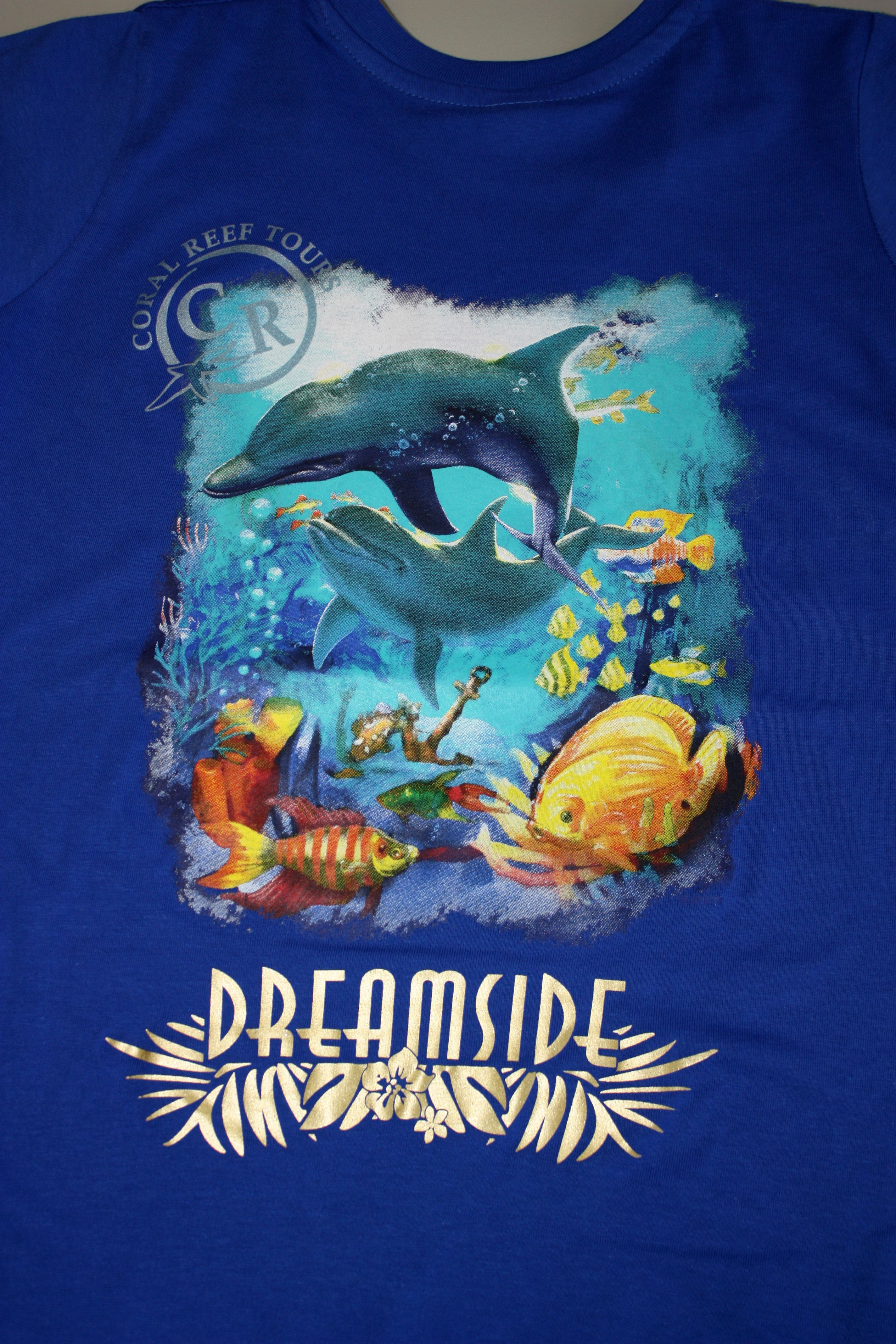 Resort And Coral Reef T Shirt Design With Dolphins And Fish Res 2 Qal 262 Qal 377 More Ideas At Easyprints Com Custom App Custom Clothes Design Custom Travel