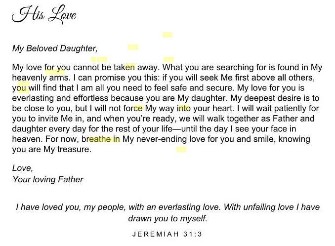 His princess, Love letters to my daughter | Scripture/Spiritual