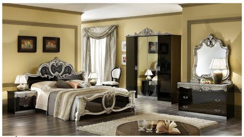 The overdone black bedroom set! All Things Black Pinterest - Italian Bedroom Sets