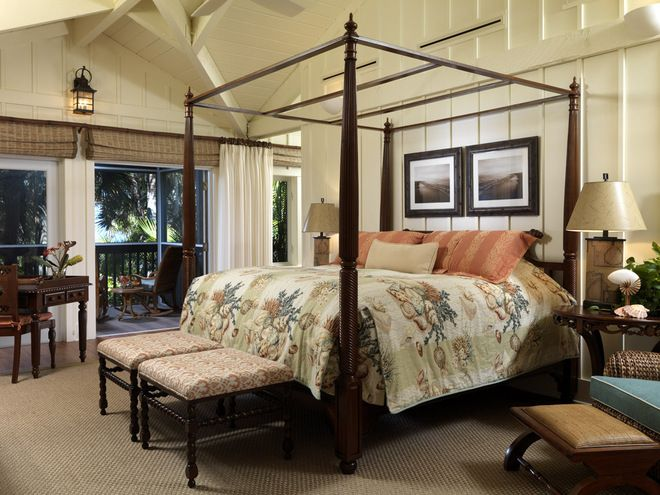 British Colonial Bedding Fabric Tropical Bedroom By Clifford M