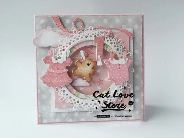 Maison de découpe en métal meurt pochoirs bricolage Scrapbooking Craft  cartes