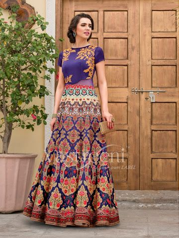 www.oruplace.com - See Blue Embroidery Flower Printed Signature Lehenga and Buy in a LIVE VIDEO CALL with Offer Prices.#embrodierylehengas #signaturelehengas #bluelehengas #rajshrifashions #oruplace #livevideoshopping #videocallstore