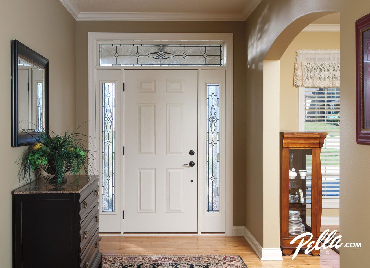 Create A Sparkling Entryway With Decorative Sidelights And