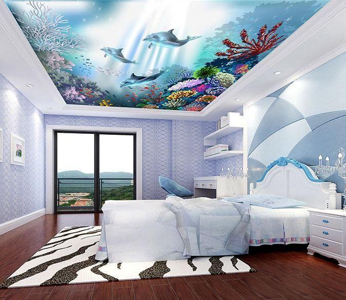 Colored Corals Dolphins   AJ Wallpaper