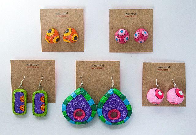 Paper Mache Earrings Diy Crafts Jewelry Paper Jewelry Paper Mache