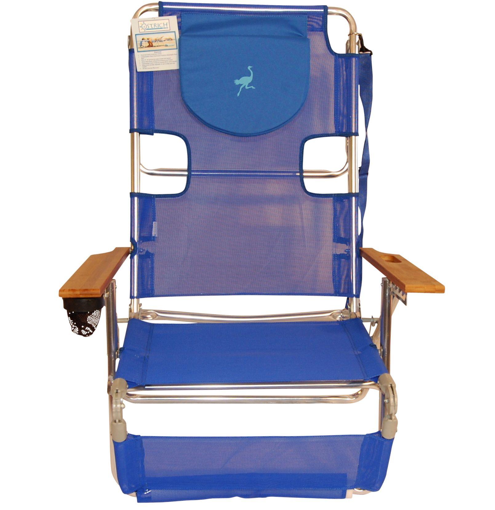 Ostrich 3N1 Beach Chair Blue Beach chairs, Beach