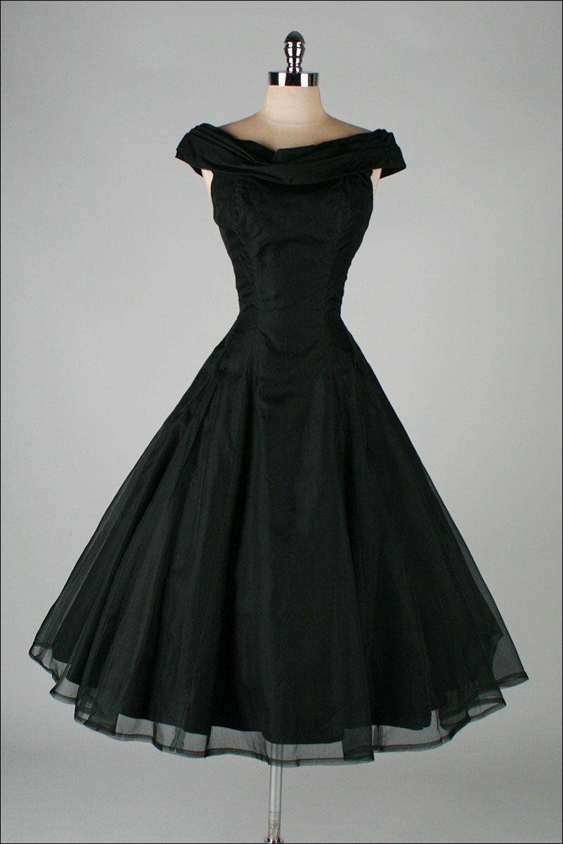 Vintage s black organza dress by suzy perette vintage dresses