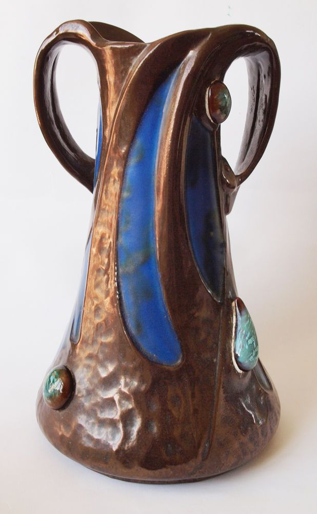 Bretby Arts And Crafts Pottery Twin Handled Vase Bretby Beauties