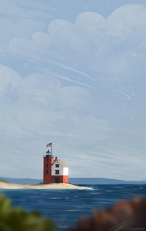 round island lighthouse Zandraart
