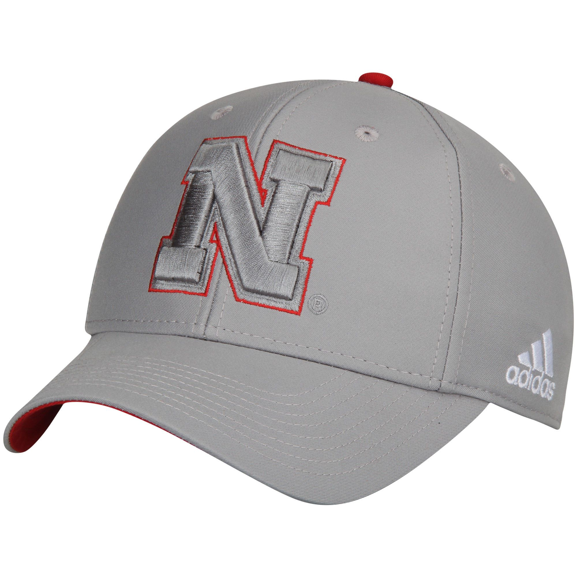 superior quality 84b3b 4482b Nebraska Cornhuskers adidas Team Logo Flex Hat - Gray