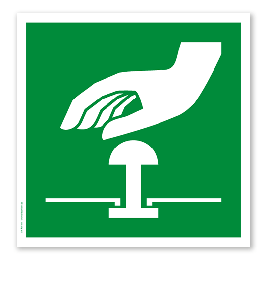 Rettungszeichen Not Halt Knopf Nach Din En Iso 7010 Nothaltknopf