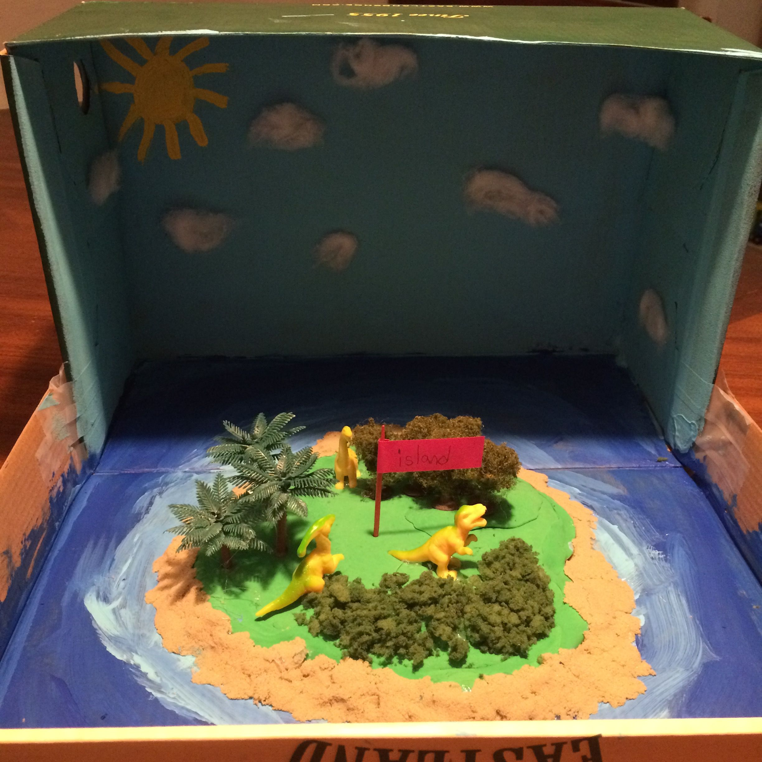 2nd Grade Island Landform Project Completed