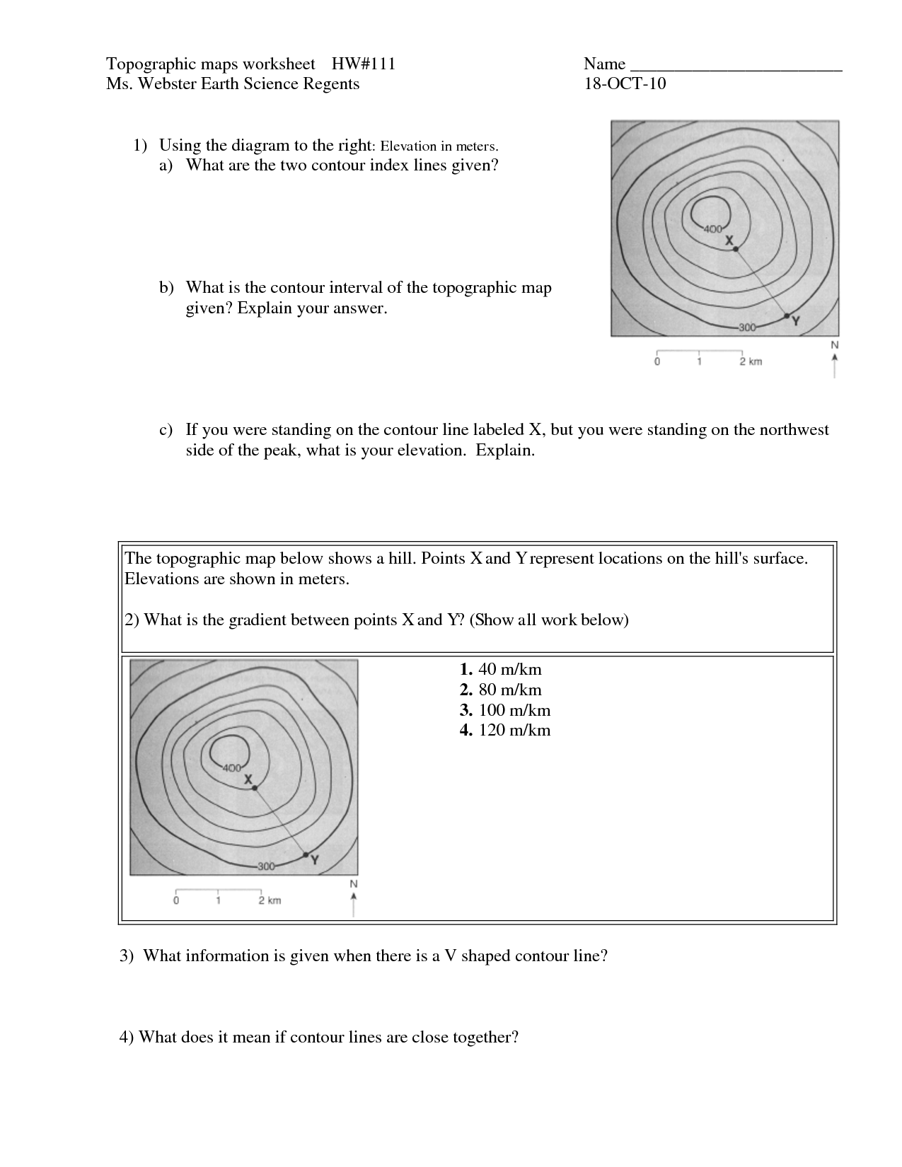 small resolution of Topographic+Map+Worksheet   Map worksheets