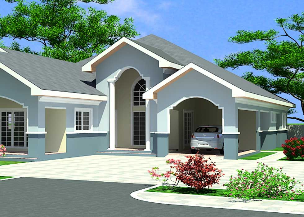 House Building Plans For Ghana Chad Gabon Congo More 4 Bedroom House Designs House Design Pictures House Design