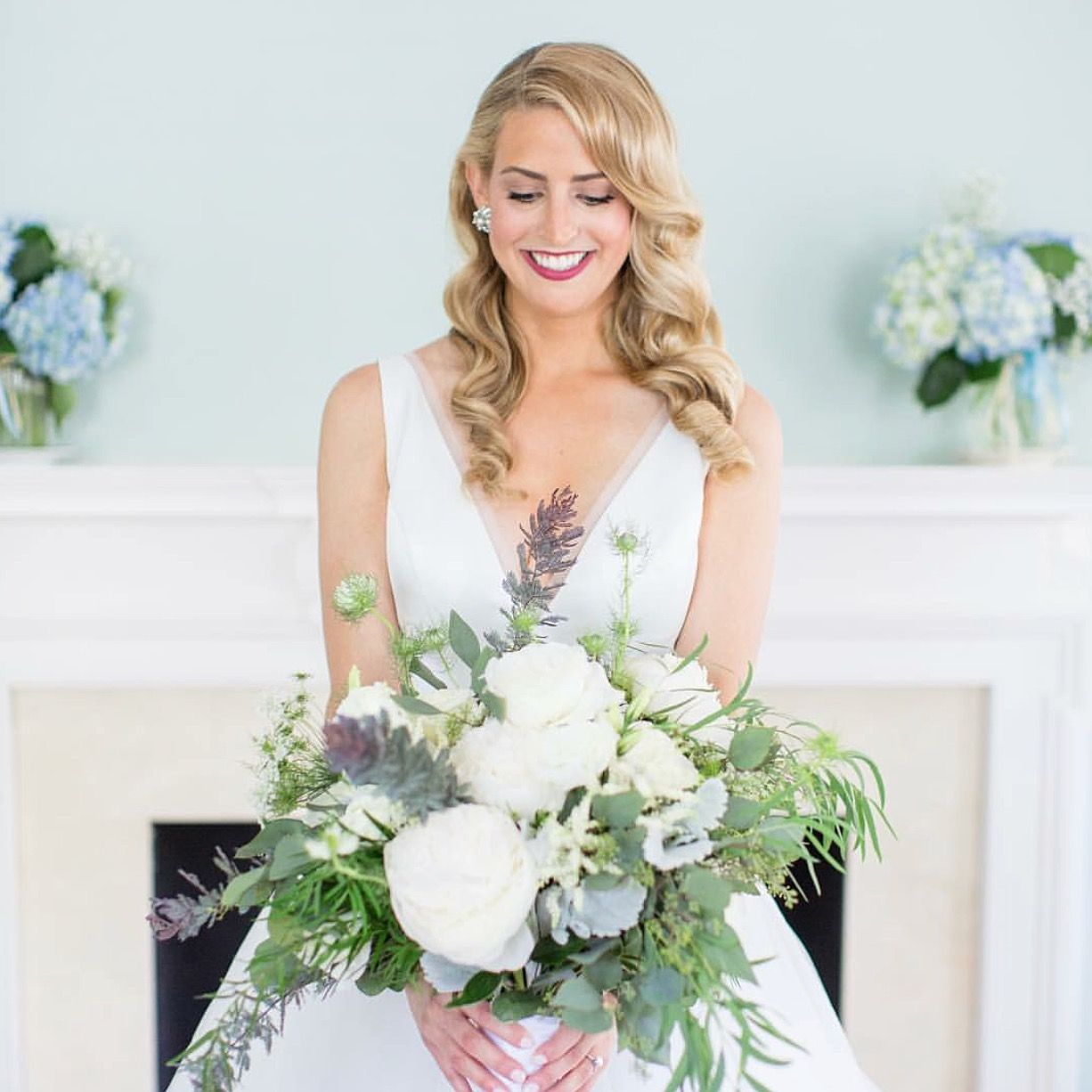 Bride Stephanie is picture perfect in the Roxie wedding dress by ...