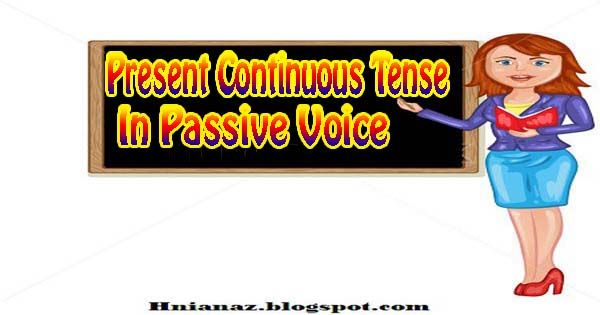Free Learn Present continuous tense in Passive voice topic 4