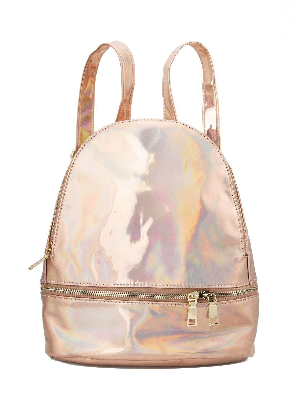 0bb3050b08 Cosmic Space Holographic Mini Backpack - Rose Gold