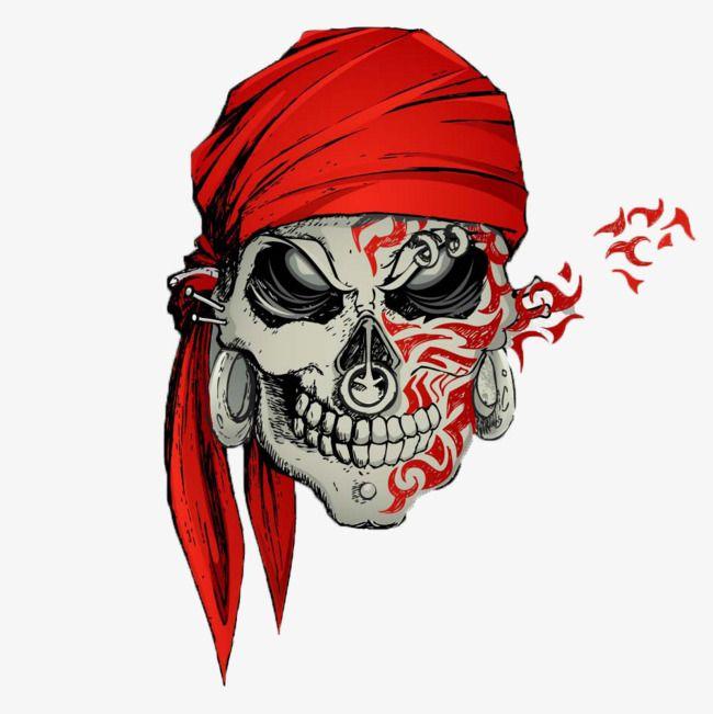 Tête De Mort, Foulard Rouge, Idées De Tatouages, Terreur, Pirates, Crânes 135771c4e19