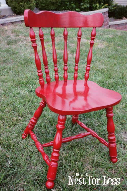 Seeing Red Quick Change To An Everyday Chair House Ideas Old