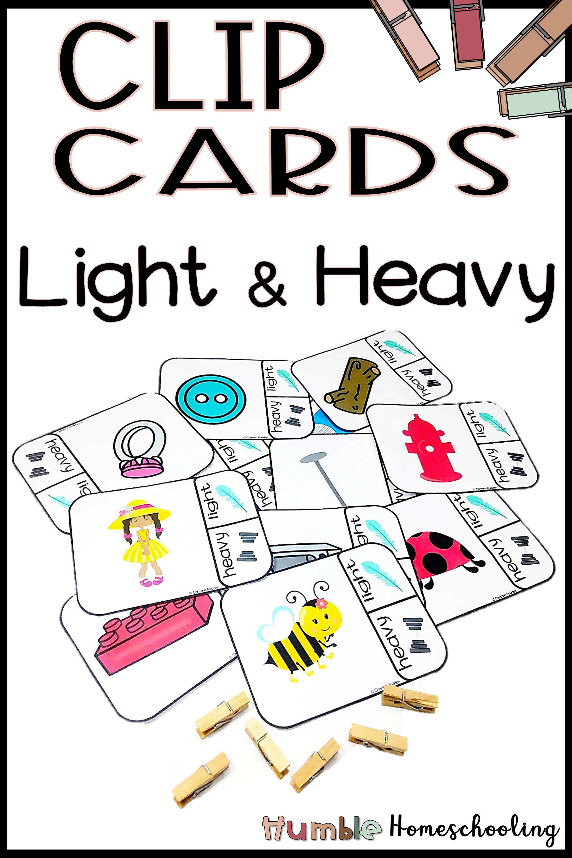 Light Or Heavy Clip Cards