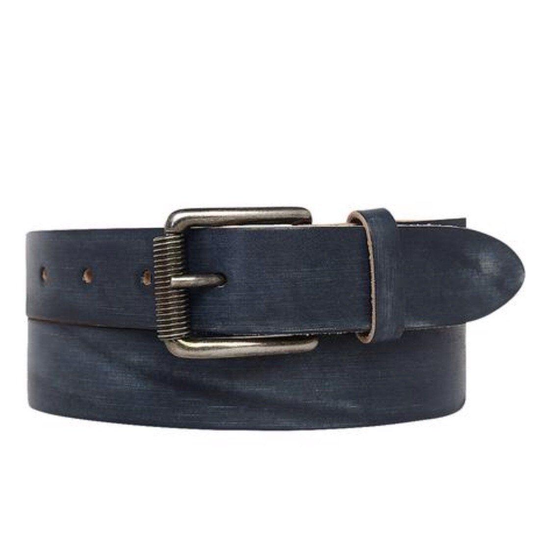 Vintage Wash Indigo Leather Belt Products In 2019