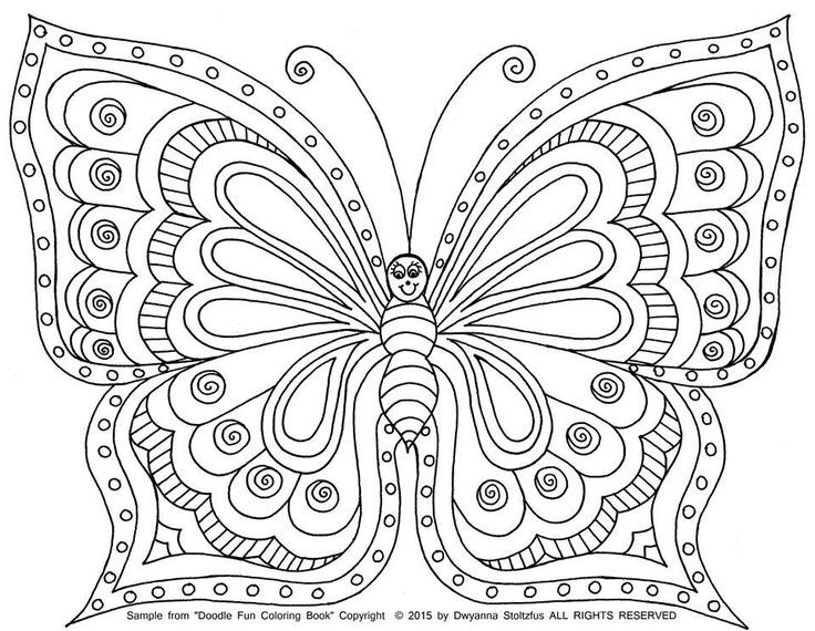 Butterfly Images Coloring Pages