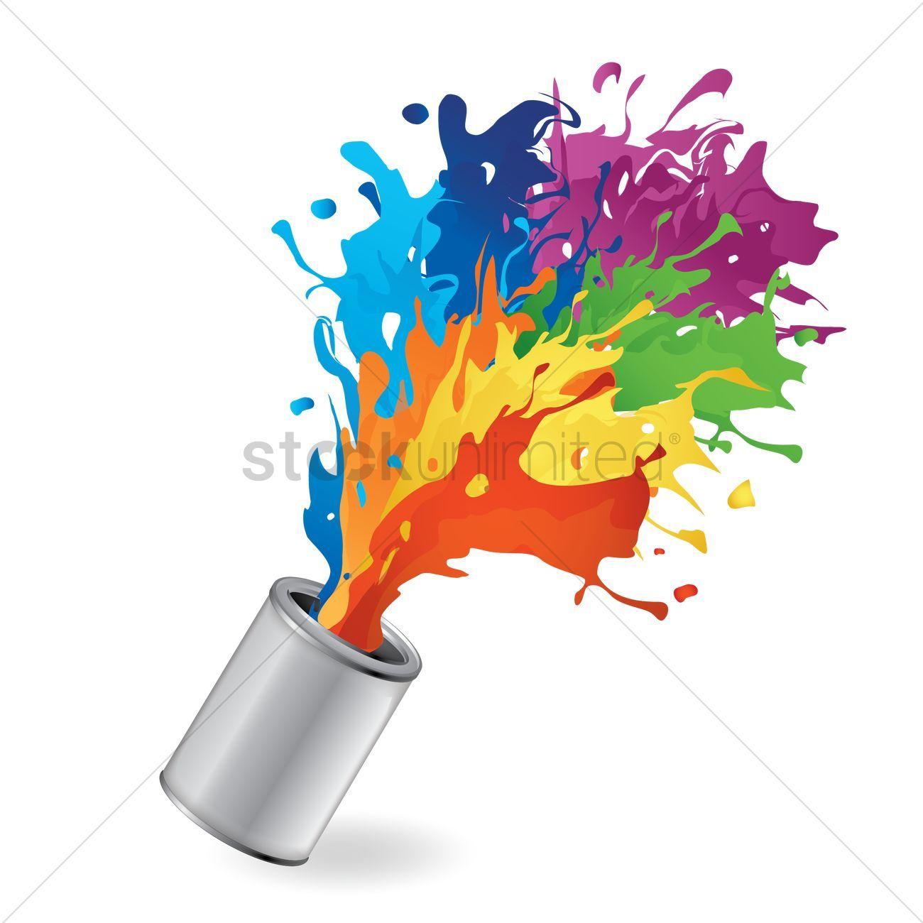 Bucket With Paint Splash Vector Illustration Affiliate Paint Bucket Splash Illustration Vector Affiliate Paint Splash Purple Art Painting