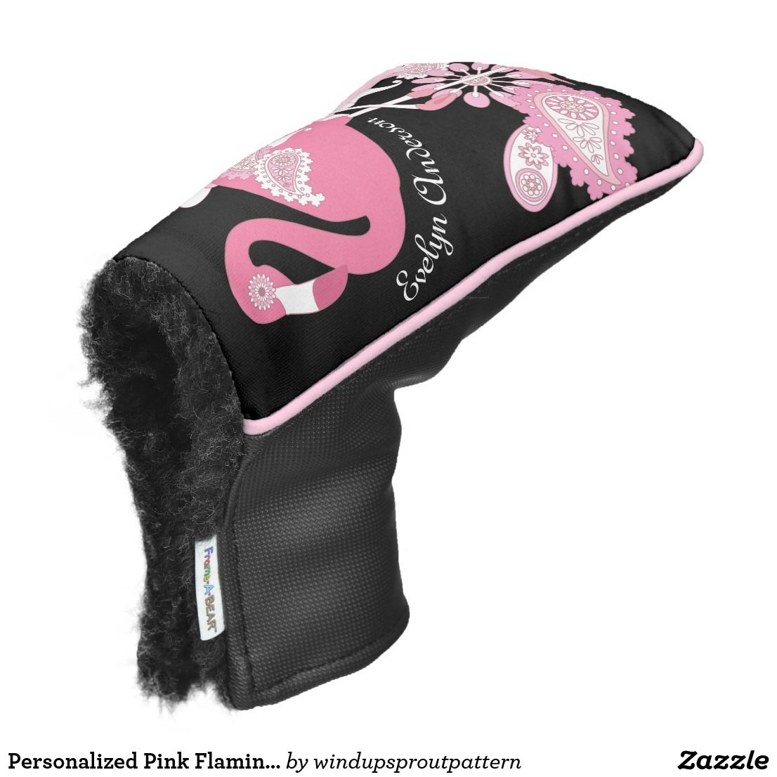 Personalized Modern Black Pink Flamingo Golf Head Cover Zazzle Com Golf Bags For Sale Golf Gifts Golf Putters