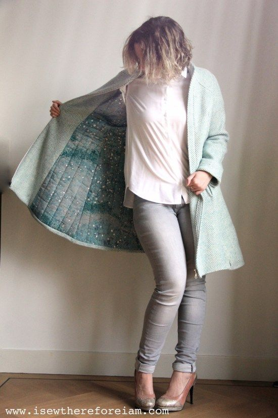 Because sometimes, you just need a special lining - like this quilted Nani Iro cotton from Miss Matatabi! Sewing pattern is the Hemisferic Coat by Pauline Alice