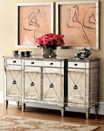 Charming Amelie Mirrored Console   Contemporary   Buffets And Sideboards     By Chic  Coles