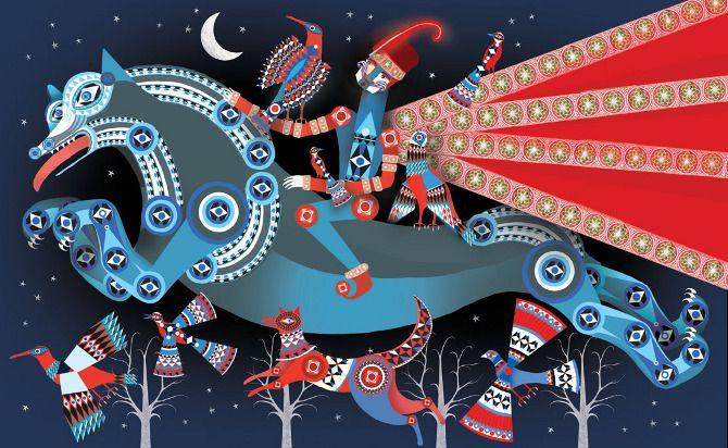 The Firebird - Lesley Barnes Illustration