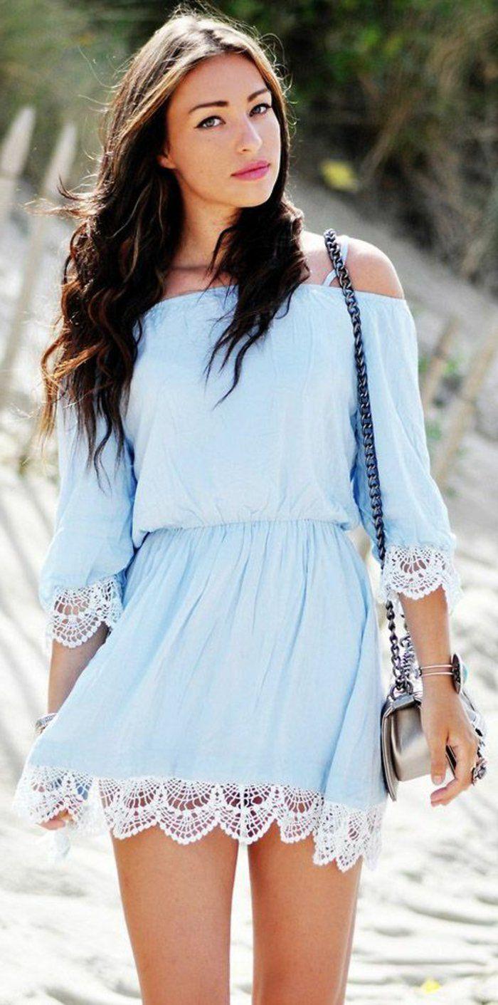 Couleur robe bleu et marron