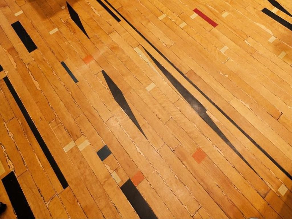 Reclaimed Basketball Court Flooring Loaded With Character