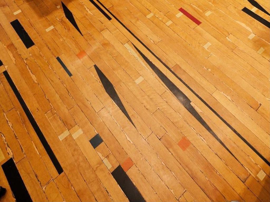 Hardwood Basketball Court Floor Viewed From Above In 2020 Basketball Court Flooring Hardwood Flooring