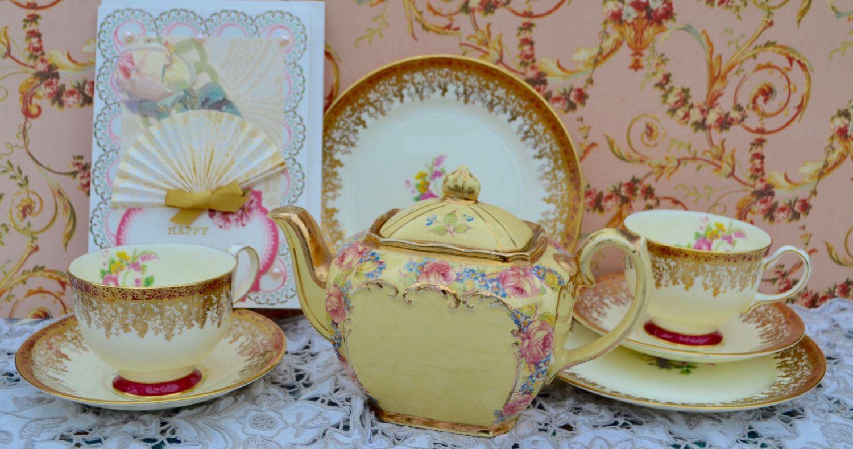 Sadler Teapot Collingwood Tea Trios Tea Set-Cup SaucerPlate Vintage & Sadler Teapot Collingwood Tea Trios Tea Set-Cup SaucerPlate ...