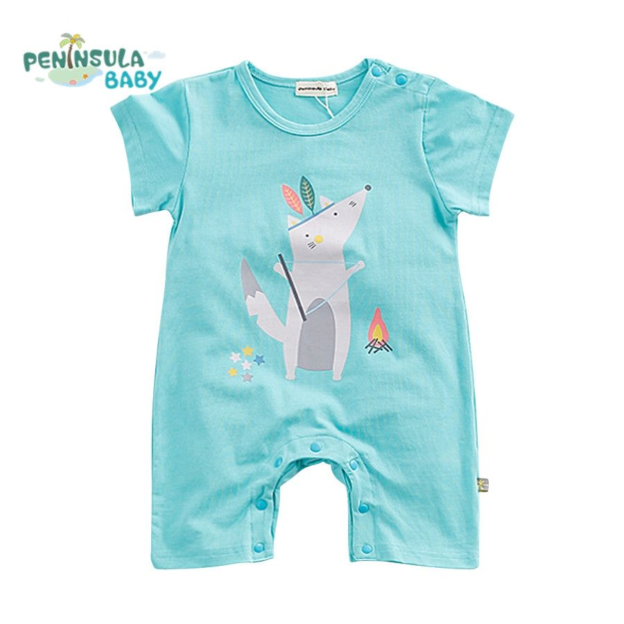 Hot Summer Band New Baby Rompers Baby Boys Clothes Cartoon Bear ...