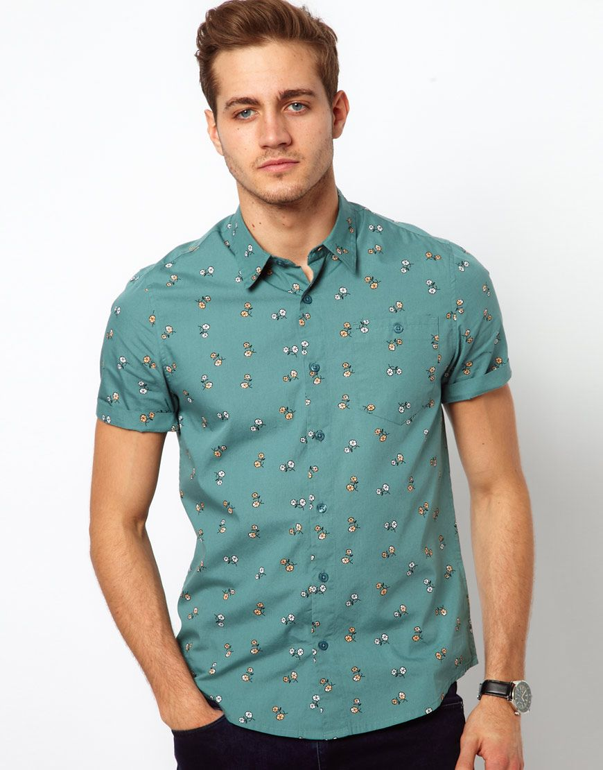 Short Sleeve Button Down Shirt with Prints | Shirts! | Pinterest ...